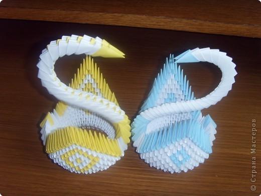 Оригами модульное: Подборка лебедей с двумя крыльями фото 4