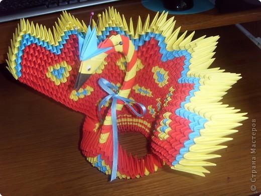 Оригами модульное: Фениксы (по схеме павлина, Peacock) фото 2