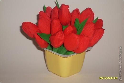 Тюльпаны поделка своими руками из гофрированной бумаги