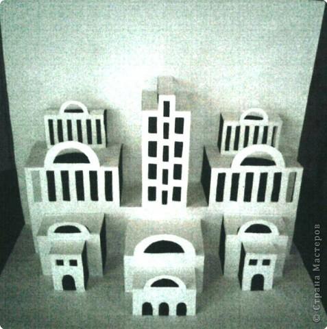Киригами pop-up Город киригами