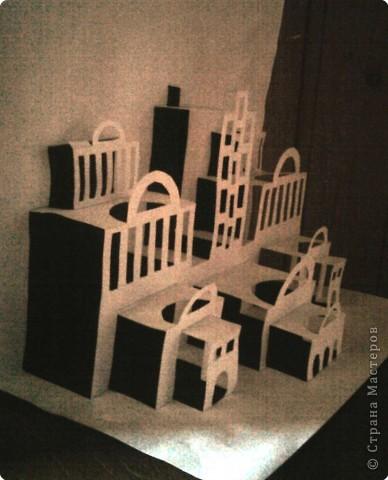 Город киригами Бумага фото