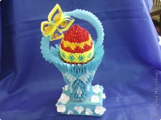 Оригами модульное: Подарок к Пасхе