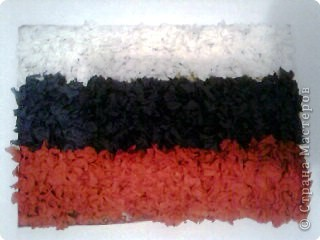 Торцевание на пластилине: Триколор - Российский флаг (торцевание на пластилине)
