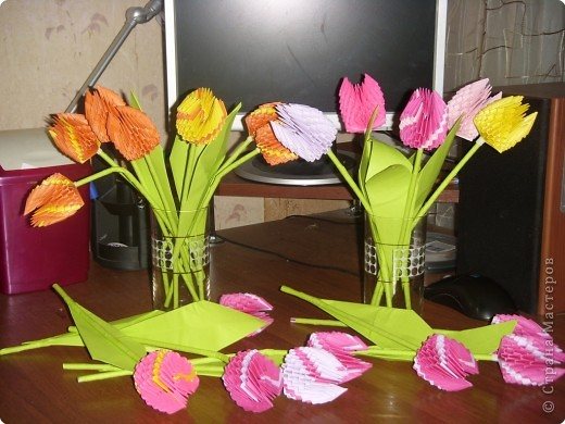 модульное Тюльпаны Бумага