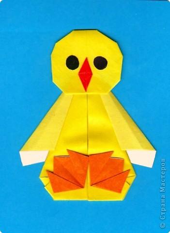 Оригами: Цыпленок. Пасха продолжается. фото 1
