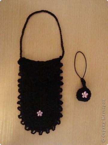 Вязание крючком: Чехол с подвеской фото 1