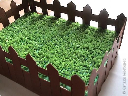 Из чего сделать траву для поделок 134