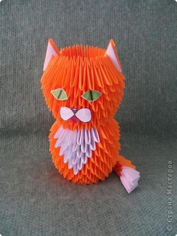 Котенок оригами из модульного оригами