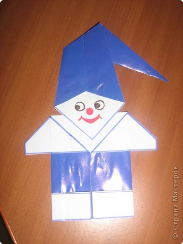 Мастер-класс Оригами Гномик-оригами МК Бумага фото 12