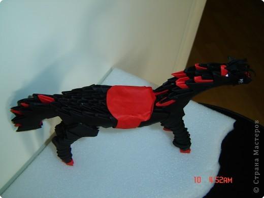 Оригами модульное: легко собирается и вот что, получается...лошадка фото 3