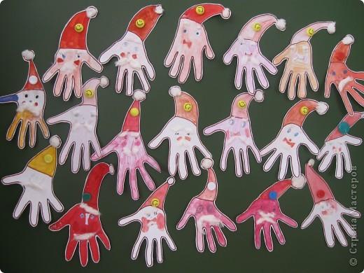 Отпечатки ладошек: А как вам такой Дед Мороз?