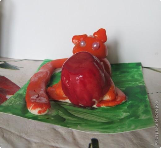 """""""Мега Кроль Альбинос"""".  Сделан первоклашкой Викой по образу и подобию """"кроликов, которые прыгают на крышу"""".   фото 2"""