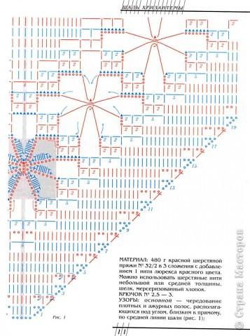 """В книге """"Русские узоры"""" эта шаль называлась- хризантемы. фото 10"""