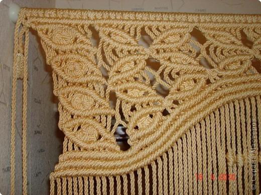 Наконец-то собралась выложить свою шторку. Плетётся она очень просто, а выглядит очень нарядно. фото 5