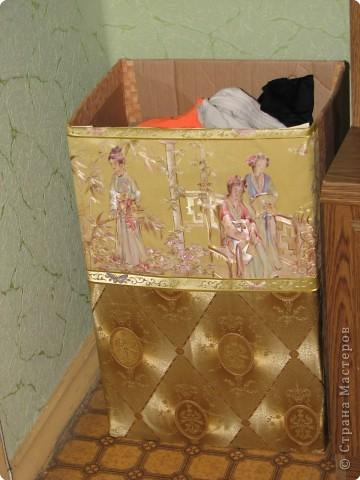 Как сделать корзину для белья своими руками из коробки