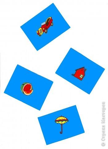 """Старое лото. Разрезная азбука. Придумаем новые правила. Все мы в детстве играли в города: Красноярск - Киров - Вологда - Архангельск. Наша игра очень на нее похожа. Только мы будем обращать внимание на звуковую оболочку букв. Задание 1. Перед тобой три картинки. Положи первой, с левой стороны, карточку с изображением зайца. Произнеси слово """"заяц"""" и определи, на какой звук оканчивается слово. - Звук """"Ц"""". -  Найди картинку, которая начинается с этой буквы и положи ее после первой. - Это - цыпленок.  - Молодец.  фото 3"""