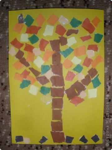 """Мой образец. """"Осеннее дерево""""."""