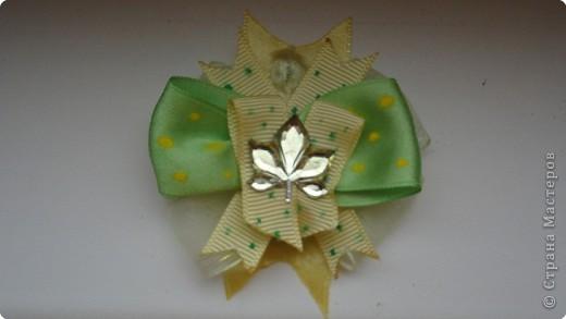 """Меня увлекло создание заколочек и бантиков. Очень нравится, когда дочка с радостью их носит, да и еще переодевает несколько раз в день. Значит что-то у меня получилось:) Вдохновитель - это Zima. А сейчас увижу заколку интересную в магазине, рассмотрю подробно, а дома что- нибудь похожее на свой лад сделаю.   """"Бабочки на цветочке"""" фото 2"""
