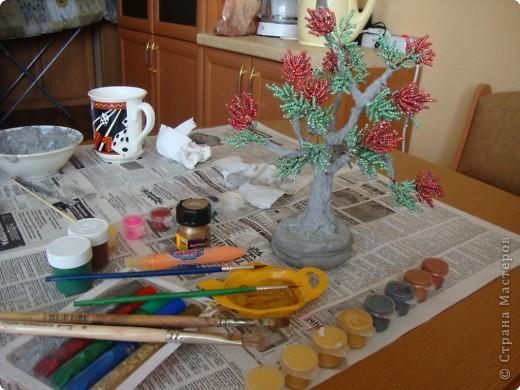Было несколько просьб о мастер-классе гипсового ствола для бисерного дерева. Вот выкладываю. фото 9