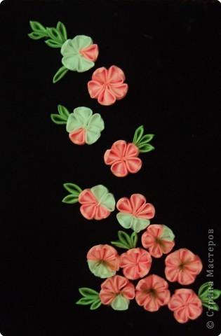 Картина панно рисунок Украшение Цумами Канзаши Мои увлечения КАНЗАШИ Ленты фото 2.