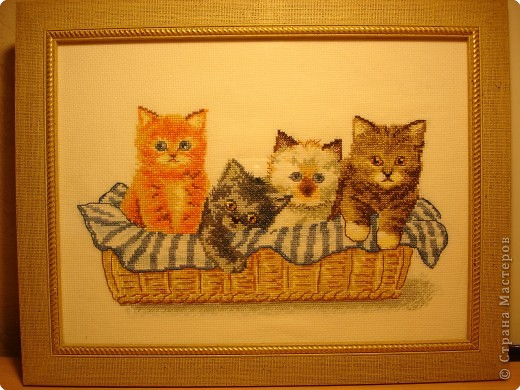 крестики Котята в корзине