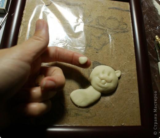 Картина панно рисунок Мастер-класс День рождения Лепка Повар с баранками и чаем Тесто соленое фото 14