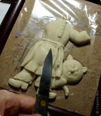 Картина панно рисунок Мастер-класс День рождения Лепка Повар с баранками и чаем Тесто соленое фото 27