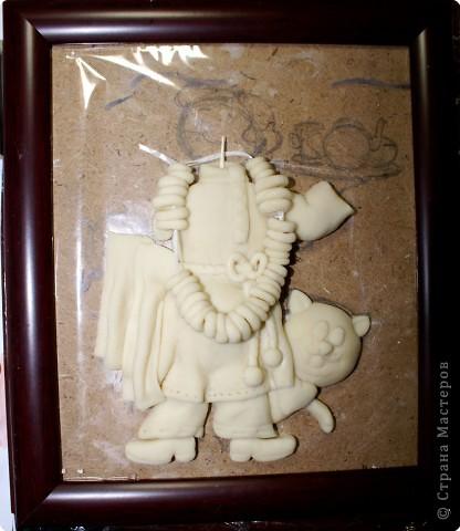 Картина панно рисунок Мастер-класс День рождения Лепка Повар с баранками и чаем Тесто соленое фото 32