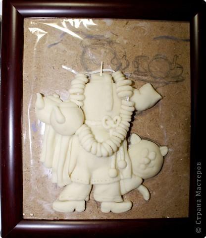 Картина панно рисунок Мастер-класс День рождения Лепка Повар с баранками и чаем Тесто соленое фото 33