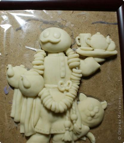 Картина панно рисунок Мастер-класс День рождения Лепка Повар с баранками и чаем Тесто соленое фото 40