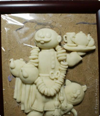 Картина панно рисунок Мастер-класс День рождения Лепка Повар с баранками и чаем Тесто соленое фото 41