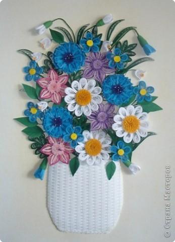 Квиллинг букеты цветов картинки 1
