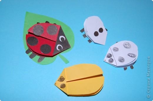 Оригами: жучек-божья коровка. фото 7