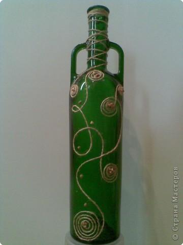 Обычная бутылка стала декоративной. фото 1