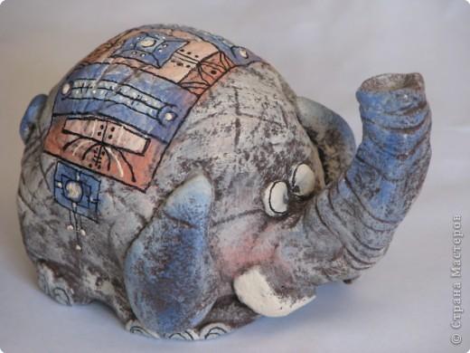 Лепка, Роспись: слонёнок