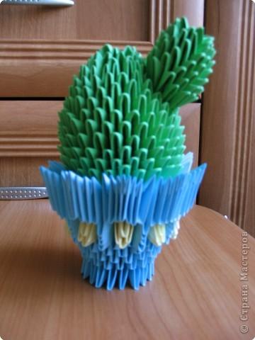 Оригами модульное: кактус с деткой и лебедёнок фото 1