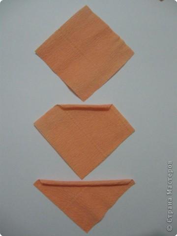Так выглядит готовая работа из ткани. Я проведу МК, используя гофрированную бумагу. Такой вариант исполнения можно применять в работе с детьми для создания декоративных панно (цветы, рыбки, птички, целые картины,...) фото 5