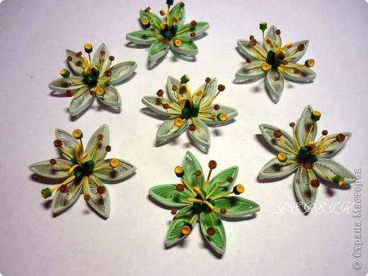 Ещё одна кропатливая работа (очень много мелких деталей), я отнесла бы её к семейству болотных цветов. Вся работа из полосок 0,3. фото 4