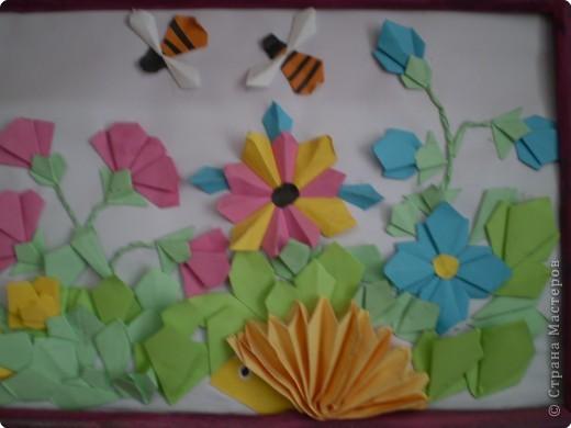 Картины из оригами своими руками видео уроки