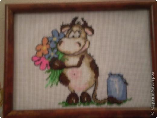 Вышивка крестом: Коровка