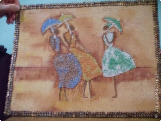 Картина своими руками из фасоли
