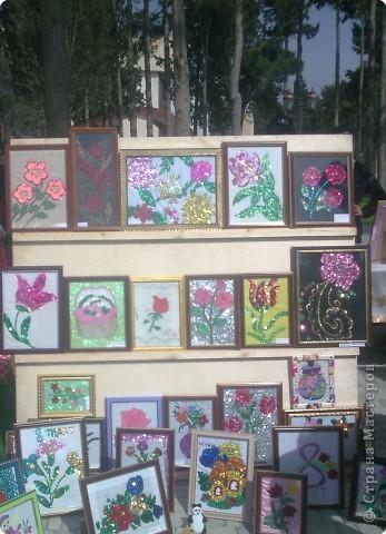 Вышивка, Вязание, Квиллинг: Праздник цветов -1 часть