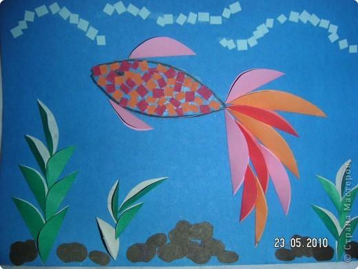 Аквариум с рыбкой из бумаги