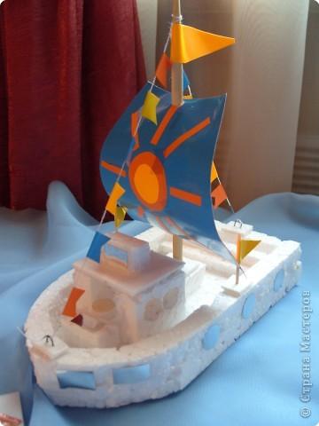 Корабль поделка в садик