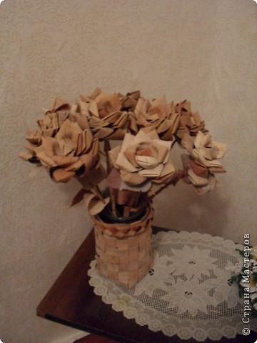 Поделка изделие розы из бересты Береста фото 2