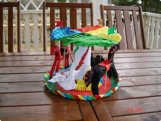 Оригами модульное: карусель фото 1