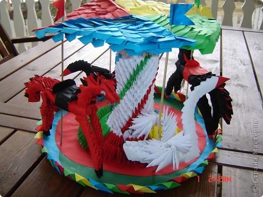 Оригами модульное: карусель фото 2
