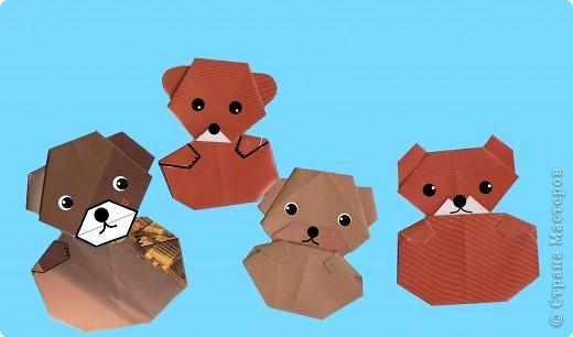 Медведь из оригами