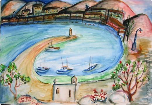Рисование и живопись: мои акварели из Греции фото 1