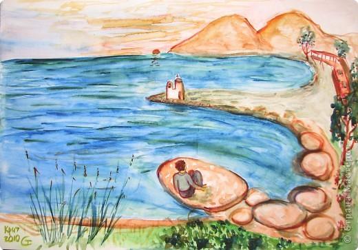 Рисование и живопись: мои акварели из Греции фото 2